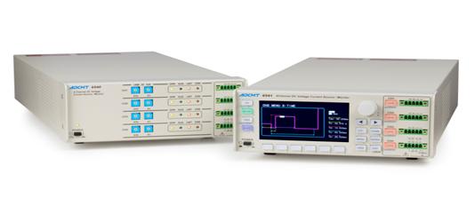 株式会社ADC 新发售产品 4ch直流电压・电流源/监视器 6540/6541的相关介绍,还请大家了解! 4通道测试用电源 4ch直流电压・电流源/监视器 6540/6541 系统内配 台式两种机型  6540/6541与本公司原有的212mm宽度的小型测试仪器相同,是搭载了产生电压/电流以及测试功能的测试用电源。 6540为嵌入式的系统内配型,最适合于生产、试验、检查等产线使用。 6541是配有显示屏以及操作面板的台式测试仪,面向注重可视性以及操作性的R&D而研制开发的一款机型。 此外,在向设备